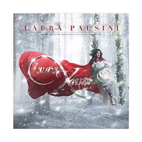 Laura Pausini - Laura Christmas Poster in tela per camera da letto, sport, paesaggio, ufficio, decorazione per la stanza, idea regalo, 50 x 50 cm, stile Unframe-1