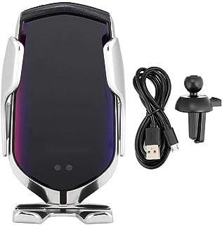 Trådlös billaddare, trådlös snabb biltelefonladdare infraröd sensor tyst läge R1 (silver)