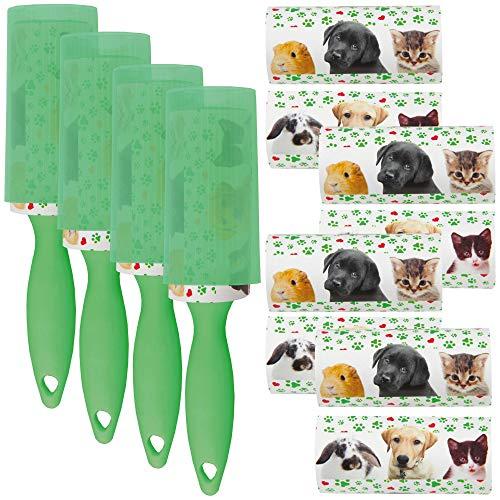 Bestlivings 40er Set Fusselrolle mit Schutzkappe im Design Tiere, mehrere Designs zur Auswahl, Fusselroller für Haustierhaar, Kleidung UVM.