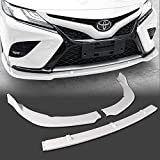 Stay Tuned Performance PU/628/PWH Paintd White Front Bumper Body Kit Lip 3PCS Compaitble with 2018&Up Camry
