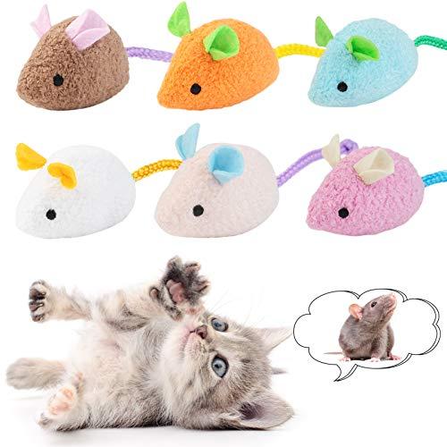Dorakitten Katzenminzen Spielzeug,6pcs Katzen kauspielzeug,interaktiv katzenspielzeug fur Katze und Kätzchen,Nettes Bionic Plüsch Maus Kitten Spielzeug Set mit Katzenminze