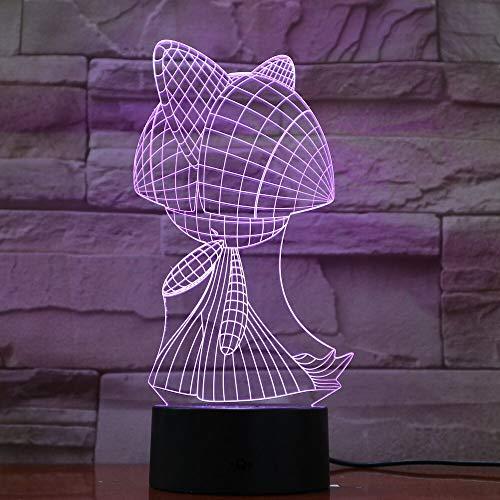Solo 1 pieza de mascota Go Ralts Figura Lámpara de noche para niños LED Sensor táctil Cambio de color Luminaria de dormitorio Acrílico Luz de noche Mesita de noche Ralts
