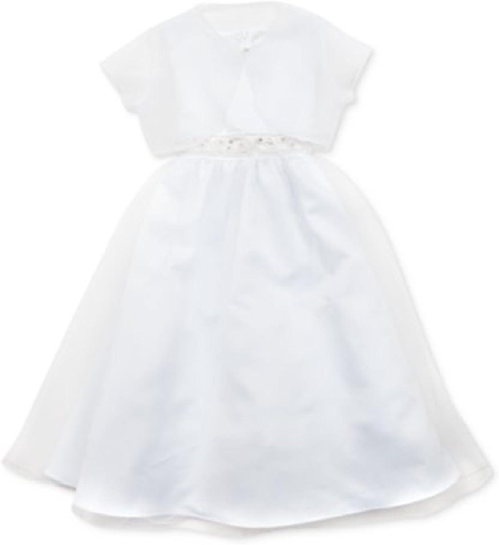 Rare Editions Girl Communion Dress & Shrug Set 10,12,14,16 White