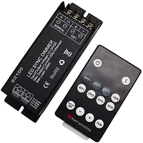 WEI-LUONG 300W 25A DIY Controlador LED Dimmer DC12V 24V RF Remoto para Control DE Control DE LA TIR DE LED de un Solo Color SMD 3528 5050 5630