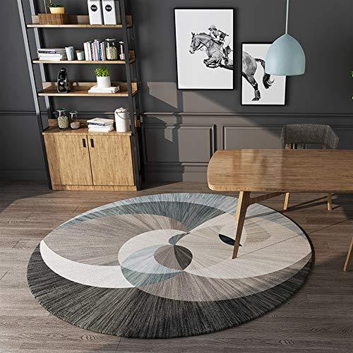 Ommda Alfombras Geometricas Salon Modernas Redondas Antideslizantes Alfombras de Habitacion Comedor Grandes Lavables d120cm