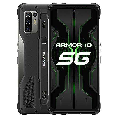 Ulefone Armor 10 (2021) 5G Smartphone, 6.67 Pulgadas, MediaTek Dimensity 800, Móvil Libre 8GB + 128GB, Cámara de 64MP, Android 10.0 Impermeable IP68, batería de 5800mAh, GPS NFC