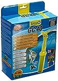 Tetra GC 40 Limpiador de fondos de acuarios, con manguera, válvula de arranque rápido y rejilla de protección para los peces, aspirador mulm con diseño de tubo de succión, para acuarios de 50 a 200 L