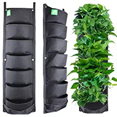 Material: Felt Cloth, 7-Pocket Wall Hanging Planter Balcony Garden Vertical Flower Vege Herbs Grow Bag. Features: rugged, self-absorbing, corrosion-resistant, breathable,Wall-mounted, save space for planting. Application Scene: Balcony Garden / Home ...