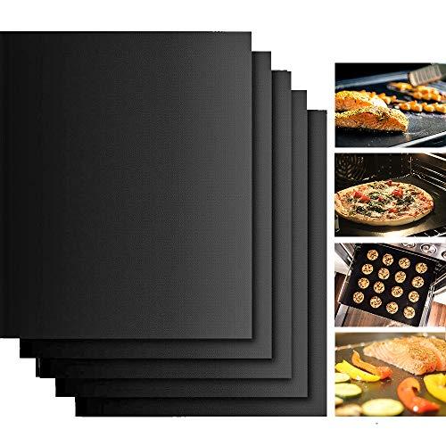 Dauerbackfolie Backfolie für Backofen 40x33cm (5er Set),spülmaschinenfest, Backpapier wiederverwendbar, Papier für Lebensmittel Pizza,zuschneidbar, bpa frei,extra groß,ohne plastik, umweltfreundlich