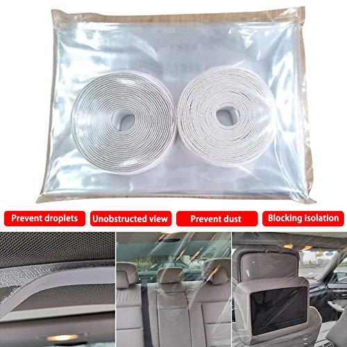 housesweet Autotaxi-Isolationsfolie, Antibeschlag-Isolierfolie, Auto-Innenschutzfolie für Die Vordere Und Hintere Reihe Der Isolierkabine