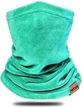 Kids Neck Warmer Gaiter Winter Fleece Neck Cover Balaclava Windproof Face Cover Mask for Ski Motorcycle (Lake Blue, 1)