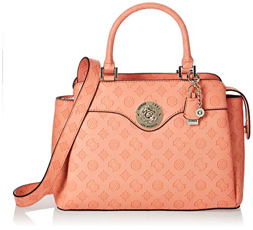 Guess Dayane Triple Compartment Satchel Coral