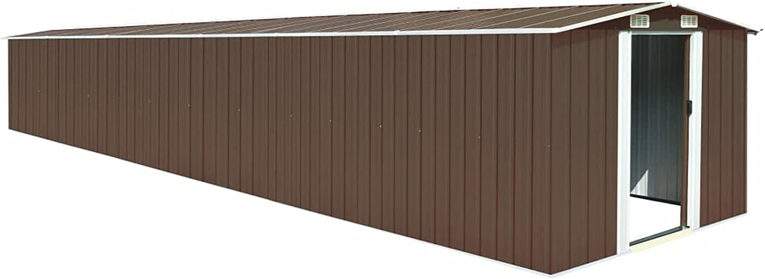 Max 77% OFF Tidyard Garden Storage Shed with Virginia Beach Mall Vents Steel Metal Slidin Double