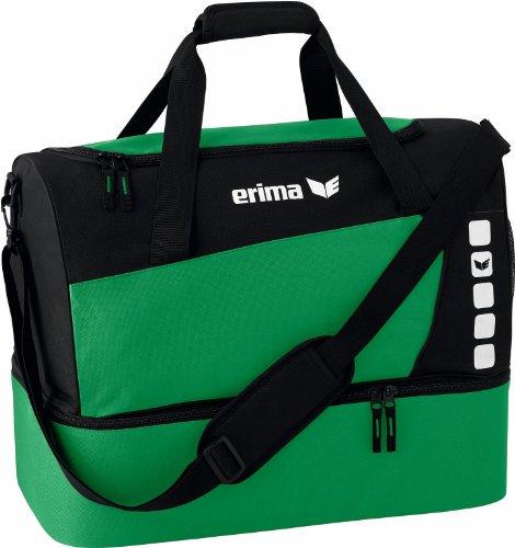 Erima CLUB 5 Sporttasche mit Bodenfach, Smaragd/Schwarz, Small