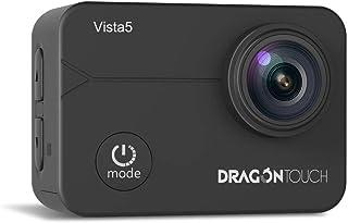 Dragon Touch Action Cam, 4K/30FPS Action Camera/Ultra HD Wifi onderwatercamera 40 M video EIS anti-shake helm camera met touchscreen, afstandsbediening, waterdichte behuizing, montage-accessoireskit Vista5