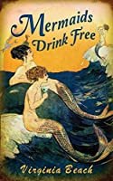 人魚は無料で飲む-ブリキのサインヴィンテージノベルティ面白い鉄の絵の金属板