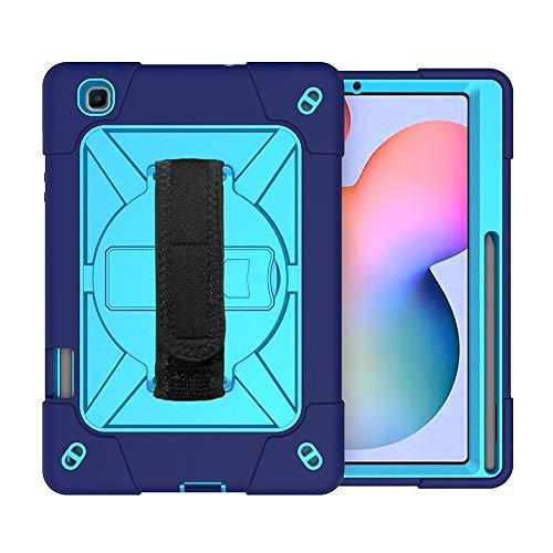 CellphoneParts BZN para Samsung Galaxy Tab S6 Lite P610 Contraste Robot de Color Silicon + PC Funda Protectora con Soporte y Ranura de bolígrafo (Color : Navy Blue)