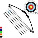 Funtress 35' Junior Arco Compound Archery Set con 4 frecce per Giovani Bambini