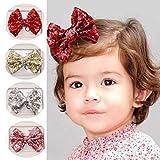 Haarspange mit Pailletten-Mädchen Pailletten Haarschleife Clips-Haarspangen für Babys, Haar-Accessoire für Mädchen 4 Stück