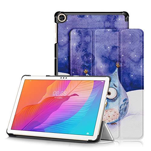 topCASE Custodia per Huawei MatePad T10S 10.1 Pollici AGS3-L09 AGS3-W09 T10 9.7 Pollici AGR-L09 AGR-W09 2020 Ultra-Sottile Cover con Funzione Supporto,Gufo