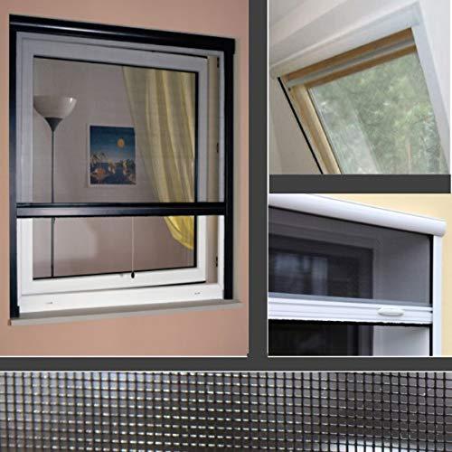 generisch Neu ! SOLARMATIC Insektenschutzrollo Clic Clac - Dachfenster BRAAS/DÖRKEN/Delta (Breite 100 bis 120 cm - Höhe bis170 cm)