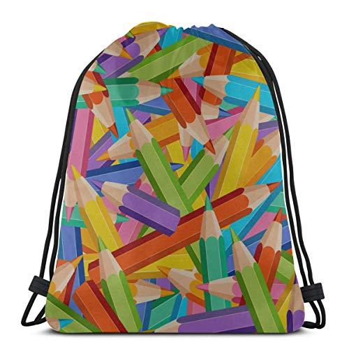 AEMAPE Arte Creativo Moda Infantil crayón niños Bolsas con cordón Cadena Mochila Bolsa de Aseo para Gimnasio Viajes al Aire Libre