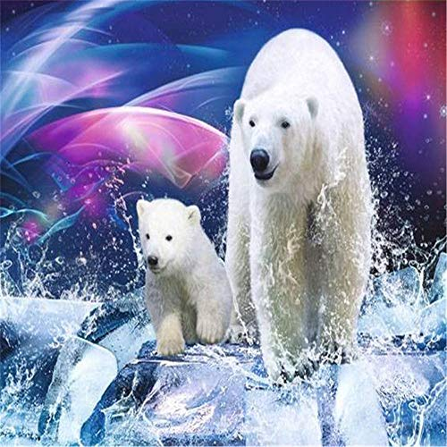 Rompecabezas de 2000 piezas Juego de rompecabezas de dos osos polares Rompecabezas de piso - Juegos de rompecabezas de relajación - Rompecabezas de pensamiento deportivo para adolescentes y adultos R