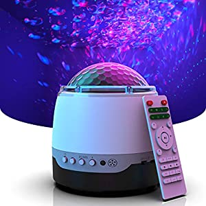 crib bedding and baby bedding dexors galaxy star projector, night light projector, white noise speaker for bedroom & baby nursery - 10 constellation lighting themes, 8 relaxing nature sounds, bluetooth speaker