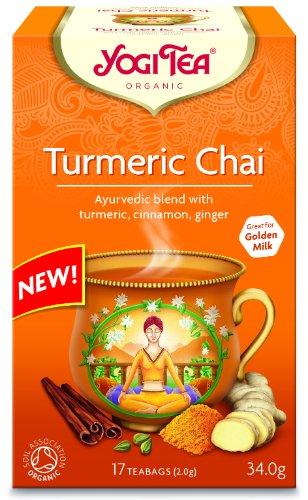 Yogi Tea Turmeric Chai - Organic - 17 Bags (3 Pack Bundle)