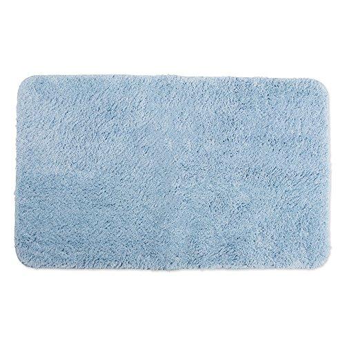 Ultra Soft Absorbent Spa Microfiber Bath Rug, 24x40', Machine Washable, Perfect Bath Mat for Shower, Vanity, Bath Tub, Sink, and Toilet-Smoke Blue