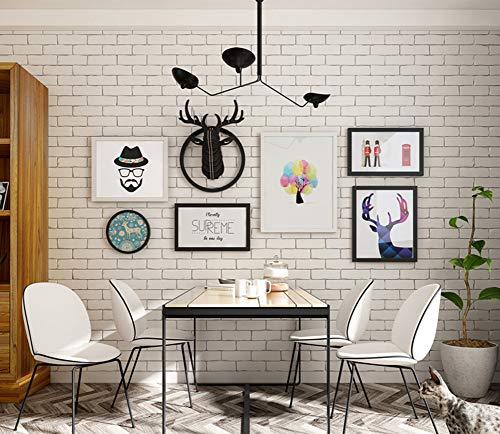 ZXZ-GO Moderne Nordique Grande Taille Peinture décorative Combinaison Couloir Restaurant Restaurant Suspendu Cadre en Bois Massif Bar Salon de Coiffure personnalité Murale