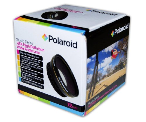 Polaroid Studio Series .43X HD Wide Angle Lens 72mm