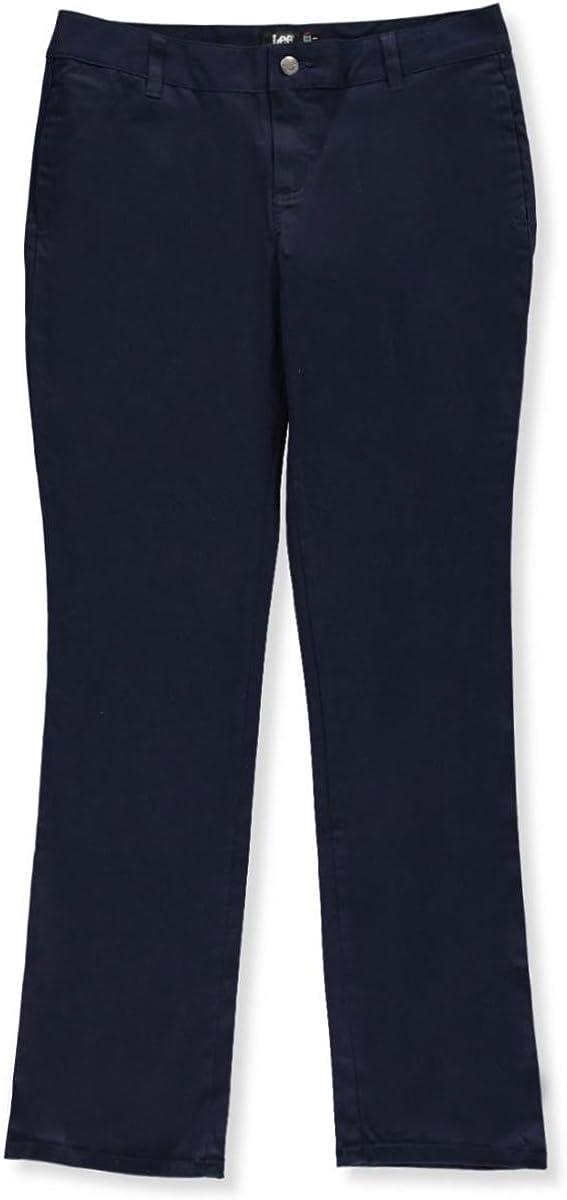 Lee Uniforms Original Straight Leg Pants (Junior Sizes 0 - 17) - navy, junior 9