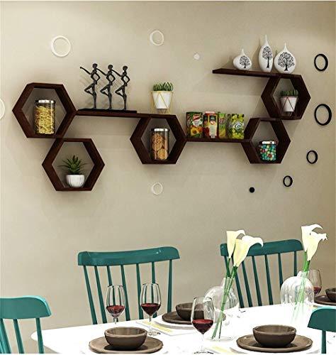 GAO XING SHOP Kreatives Gitter Fernsehwand-Dekorations-Leiste,Wandbehang Fernsehhintergrund-Wand-Dekorations-Bücherregal