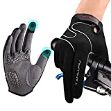 Tanluhu Cycling Gloves Mountain Bike Gloves Biking Gloves for Men Women Outdoor Full Finger Touch Screen Anti-Slip Shock-Absorbing MTB Gloves Road Bicycle Gloves(Black)