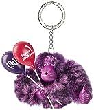 Kipling Happy 30, Portachiavi ad anello e catena Donna, Viola (Happy Purple), 9x9.5x4.5 cm (B x H x T)