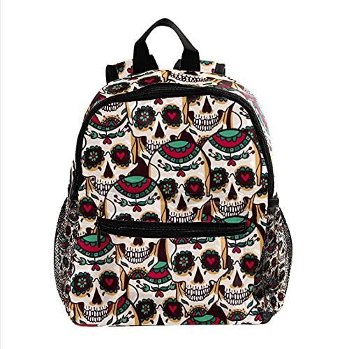 Linda Mochila Calavera riendo Cute Student Backpack Design Mejor Mochila para niños Mochila Grande y para Adolescentes Niñas Niños 25.4x10x30cm