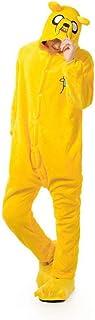 Onesie Kigurumis, Pijama de Perro Amarillo, Ropa de Dormir Suave y cálida para Adultos, Traje de Fiesta para Festival, Mono de Dibujos Animados Divertidos de Invierno