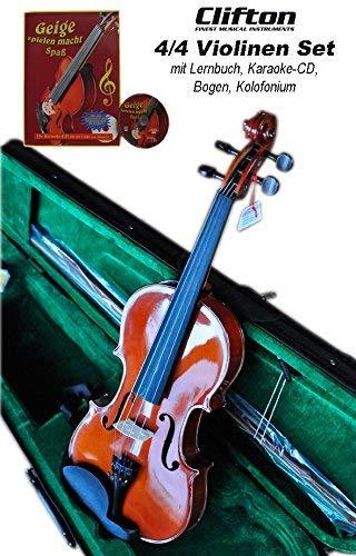 Geigen-Set 4/4 Mensur mit Lernbuch und Karaoke-CD Clifton