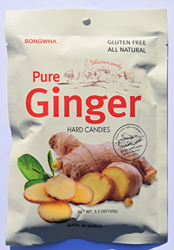 powerful 3 bags of pure ginger hard candy