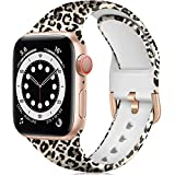 ZAROTO Compatible with Apple Watch Band 41mm 40mm 38mm for Women Girls, Soft Cute Fancy Fadeless Floral Pattern Replacement Wristbands for iwatch SE Series 7 6 5 4 3 2 1, Rose Gold Leopard