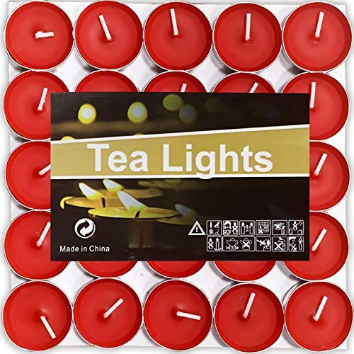 OUO Tea Lights Candles 50 Pack Candles Scented Small Candles Smokeless Dripless Long Lasting product image
