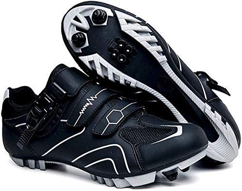 JINFAN Zapatillas De Ciclismo MTB Unisex Zapatillas Deportivas para Hombre Zapatillas De Bicicleta Transpirables para Exteriores De Verano,Black-45EU