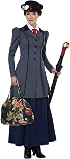Women's English Nanny - Adult Costume Adult Costume, Gray/Navy, Extra Small