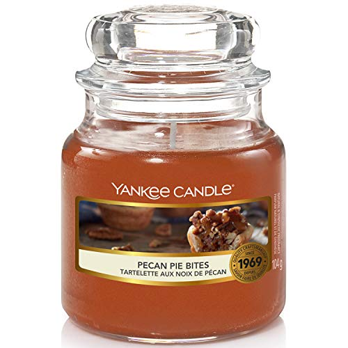Yankee Candle Scented Candle   Pecan Pie Bites Small Jar Candle   Up to 30 Hours Burn Time, Brown