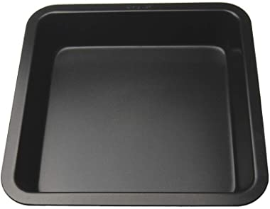 Zianplus carbonsteel Microwave Safe Square Shape Cake Baking Mould/pan/tin/Tray 22cm(Black)