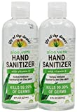 Lily of the Desert Hand Sanitizer - 8oz Bottle (2 Pack) with Organic Aloe, Made in USA, 70% Alcohol, 15% Aloe Vera, Moisturizing Gel for Soft Hands with Vitamin E