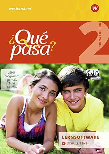 ¿Qué pasa? - Ausgabe 2016: Lernsoftware 2: Schullizenz: Lehrwerk für Spanisch als 2. Fremdsprache ab Klasse 6 oder 7 - Ausgabe 2016 / Lernsoftware 2: ... ab Klasse 6 oder 7 - Ausgabe 2016)