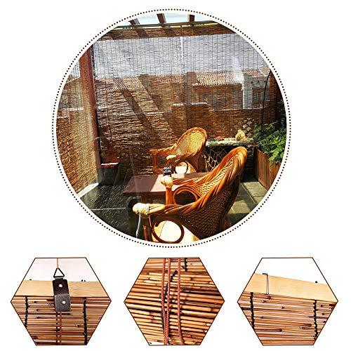 Jolan Persianas De Bambú para Ventanas,Cortinas De Caña para Exteriores,Resistentes Intemperie/Sombrilla,Estor Retro Romanas,Fáciles De Instalar,110x200cm/43x78.5in