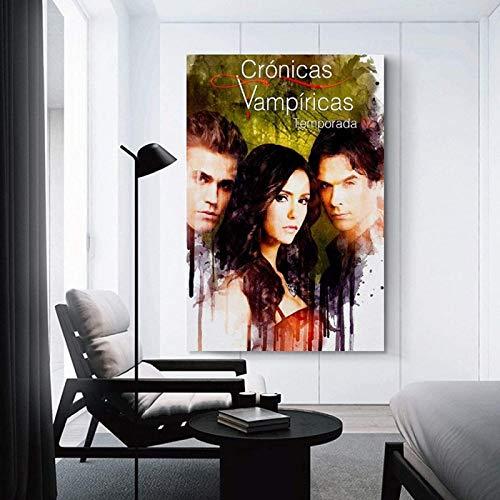 Lienzo Obra de arte Pintura 30x50cm sin marco Vampire Diaries 11 Vintage Classic Movie TV Poster Prints Canvas Pictures Pinturas para decoración del hogar Póster